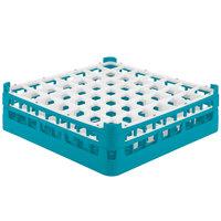 Vollrath 52785 Signature Full-Size Light Blue 49-Compartment 4 13/16 inch Medium Plus Glass Rack