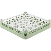 Vollrath 52790 Signature Lemon Drop Full-Size Light Green 30-Compartment 2 13/16 inch Short Glass Rack
