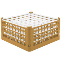 Vollrath 52788 Signature Full-Size Gold 49-Compartment 9 1/16 inch XX-Tall Plus Glass Rack