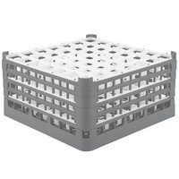 Vollrath 52788 Signature Full-Size Gray 49-Compartment 9 1/16 inch XX-Tall Plus Glass Rack