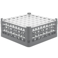 Vollrath 52787 Signature Full-Size Gray 49-Compartment 7 11/16 inch X-Tall Plus Glass Rack