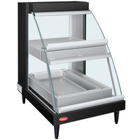 Hatco GRCDH-1PD Black 20 inch Glo-Ray Full Service Double Shelf Merchandiser with Humidity Controls - 1110W