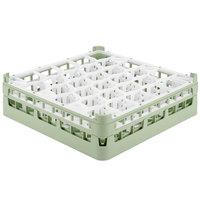Vollrath 52813 Signature Lemon Drop Full-Size Light Green 30-Compartment 4 13/16 inch Medium Plus Glass Rack