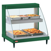Hatco GRCDH-1PD Green 20 inch Glo-Ray Full Service Double Shelf Merchandiser with Humidity Controls - 1110W