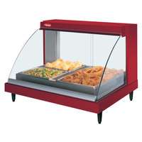 Hatco GRCDH-2P Red 33 inch Glo-Ray Full Service Single Shelf Merchandiser with Humidity Controls - 1030W