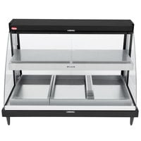 Hatco GRCDH-3PD Black 46 inch Glo-Ray Full Service Double Shelf Merchandiser with Humidity Controls - 1960W