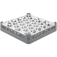 Vollrath 52811 Signature Lemon Drop Full-Size Gray 30-Compartment 3 1/4 inch Short Plus Glass Rack