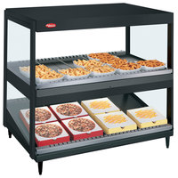 Hatco GRSDS/H-30D Black Glo-Ray 30 inch Horizontal / Slanted Double Shelf Merchandiser