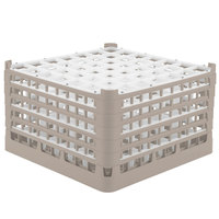 Vollrath 52789 Signature Full-Size Beige 49-Compartment 10 9/16 inch XXX-Tall Plus Glass Rack