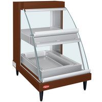 Hatco GRCDH-1PD Copper 20 inch Glo-Ray Full Service Double Shelf Merchandiser with Humidity Controls - 1110W