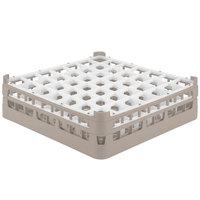 Vollrath 52785 Signature Full-Size Beige 49-Compartment 4 13/16 inch Medium Plus Glass Rack