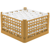 Vollrath 52847 Signature Lemon Drop Full-Size Gold 30-Compartment 9 15/16 inch XXX-Tall Glass Rack