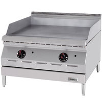 Garland GD-36GTH Designer Series Natural Gas 36 inch Countertop Griddle with Thermostatic Controls - 60,000 BTU