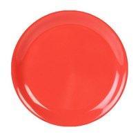 10 1/2 inch Orange Narrow Rim Melamine Plate - 12/Pack