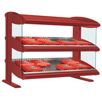 Hatco HXMH-24D Warm Red Xenon 24 inch Horizontal Double Shelf Merchandiser - 120V