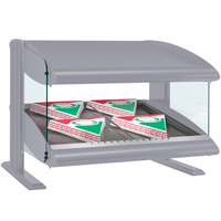 Hatco HXMS-24 Gray Granite LED 24 inch Slanted Single Shelf Merchandiser - 120V