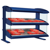 Hatco HXMS-48 Navy Blue LED 48 inch Slanted Single Shelf Merchandiser - 120V