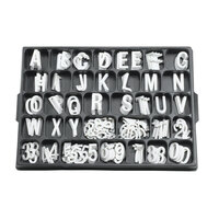 Aarco 1 1/2 inch Helvetica Universal Single Tab Letter and Number Double Set - 276 Characters