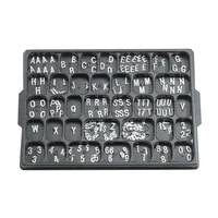 Aarco 1/2 inch Helvetica Universal Single Tab Letter and Number Double Set - 330 Characters