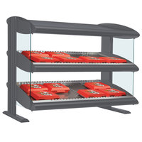 Hatco HXMS-24D Gray Granite LED 24 inch Slanted Double Shelf Merchandiser - 120V