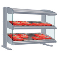 Hatco HXMS-36 White Granite LED 36 inch Slanted Single Shelf Merchandiser - 120V