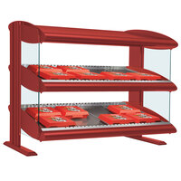 Hatco HXMS-48D Warm Red LED 48 inch Slanted Double Shelf Merchandiser