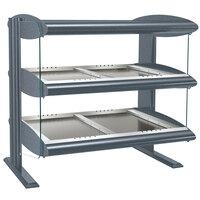 Hatco HZMH-48D Gray Granite 48 inch Horizontal Double Shelf Heated Zone Merchandiser