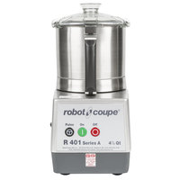 Robot Coupe R401B Food Processor with 4.5 Qt. Stainless Steel Bowl - 1 1/2 hp