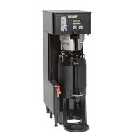 Bunn 34800.0008 Black BrewWISE Single ThermoFresh DBC Brewer with Funnel Lock - 120V, 2200W