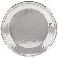 American Metalcraft HMRST1301 13 1/2 inch Round Hammered Stainless Steel Serving Tray