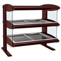 Hatco HZMH-42D Antique Copper 42 inch Horizontal Double Shelf Heated Zone Merchandiser