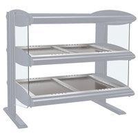 Hatco HZMH-24D White Granite 24 inch Horizontal Double Shelf Heated Zone Merchandiser - 120V
