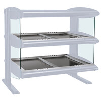 Hatco HZMH-60D White Granite 60 inch Horizontal Double Shelf Heated Zone Merchandiser