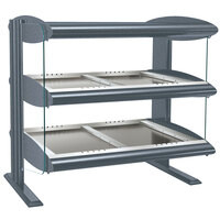 Hatco HZMH-54D Gray Granite 54 inch Horizontal Double Shelf Heated Zone Merchandiser