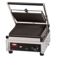 Hatco MCG10G 13 inch Multi Contact Panini Sandwich Grill with Grooved Cast Iron Plates