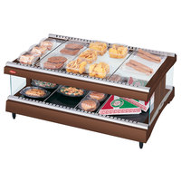 Hatco GR3SDH-33 Antique Copper Glo-Ray 33 inch Horizontal Single Shelf Heated Glass Merchandising Warmer - 120V