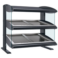 Hatco HZMS-48D Gray Granite 48 inch Slanted Double Shelf Heated Zone Merchandiser