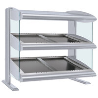 Hatco HZMS-54D White Granite 54 inch Slanted Double Shelf Heated Zone Merchandiser