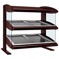 Hatco HZMS-54D Antique Copper 54 inch Slanted Double Shelf Heated Zone Merchandiser