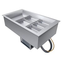 Hatco CWB-3 Three Pan Refrigerated Drop In Cold Food Well with Drain - 120V