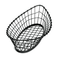 Tablecraft GM2412 Grand Master Oblong Black Wire Basket - 24 inch x 12 inch x 6 inch