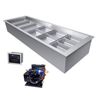 Hatco CWBR-6 Six Pan Refrigerated Drop In Cold Food Well with Drain and Remote Condenser - 120V