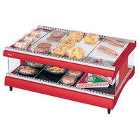 Hatco GR3SDH-27 Warm Red Glo-Ray 27 inch Horizontal Single Shelf Heated Glass Merchandising Warmer - 120V