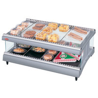 Hatco GR3SDH-27 Gray Granite Glo-Ray 27 inch Horizontal Single Shelf Heated Glass Merchandising Warmer - 120V