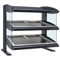 Hatco HZMS-60D Gray Granite 60 inch Slanted Double Shelf Heated Zone Merchandiser