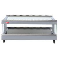 Hatco GR3SDS-27 White Granite Glo-Ray 27 inch Slanted Single Shelf Heated Glass Merchandising Warmer - 120V