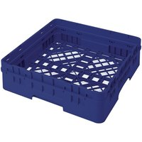Cambro BR414186 Navy Blue Camrack Full Size Open Base Rack with 1 Extender
