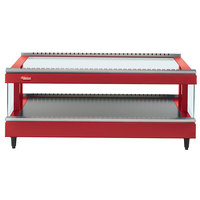 Hatco GR3SDS-39 Warm Red Glo-Ray 39 inch Slanted Single Shelf Heated Glass Merchandising Warmer - 120V