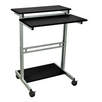Luxor / H. Wilson STANDUP-31.5-B Stand Up Workstation - 31 1/2 inch