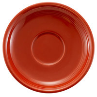 CAC TG-2-R Tango 6 inch Red Round Saucer - 36/Case